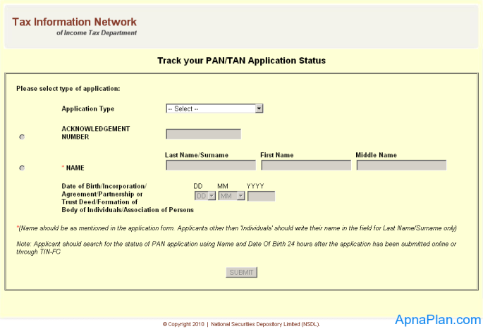 How to check your PAN status Online