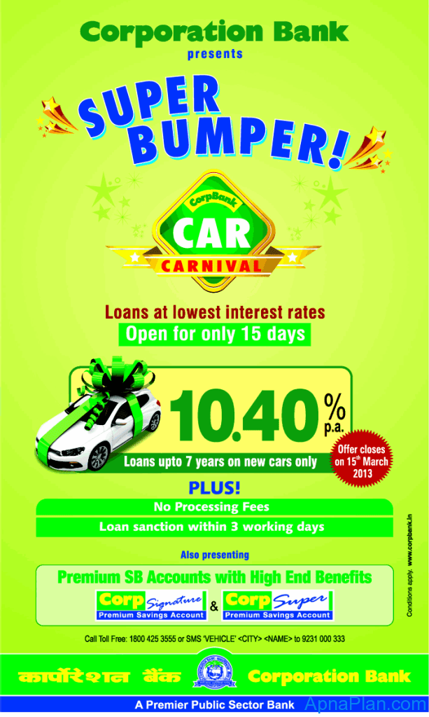 Corporation Bank launches Bumper Car Carnival