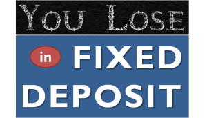 How you lose Money by investing in Fixed Deposits