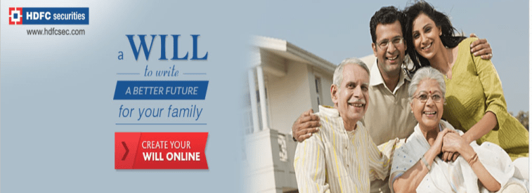 HDFC Securities launches e-Will - an Online Estate Planning Service