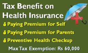Tax Benefit on Health Insurance - Sec 80D