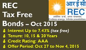 REC Tax Free Bonds – October 2015