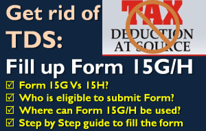 Fill up Form 15G or 15H to Get rid of TDS