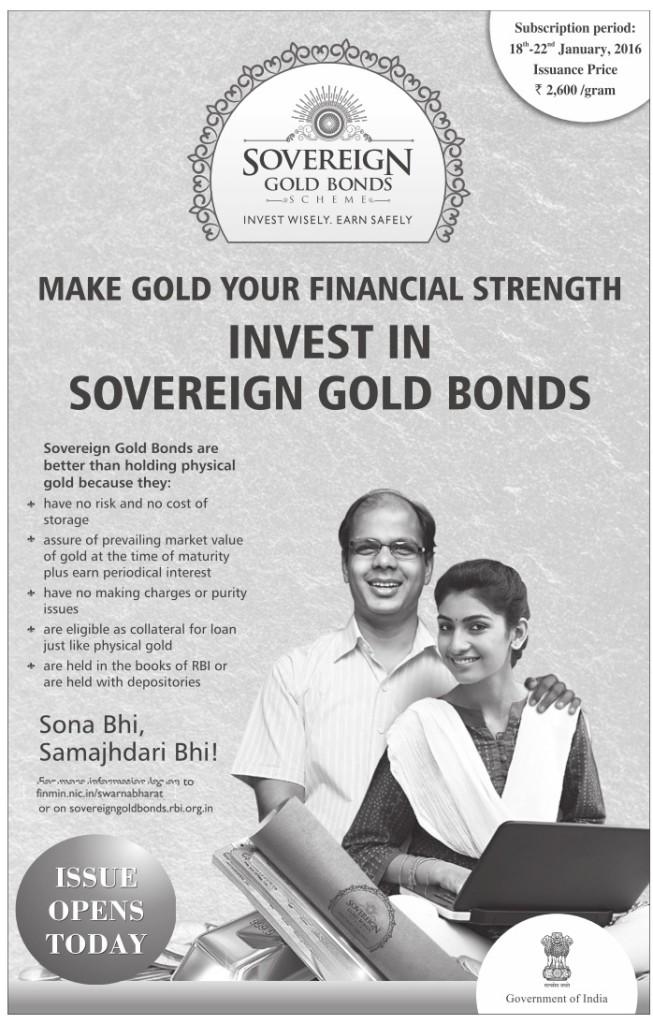 Sovereign Gold Bond Tranche II - Advertisement