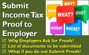 Submit Income Tax Proof to Employer