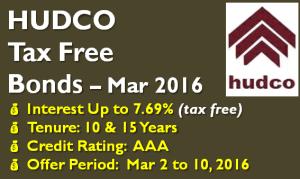 HUDCO Tax Free Bond – March 2016