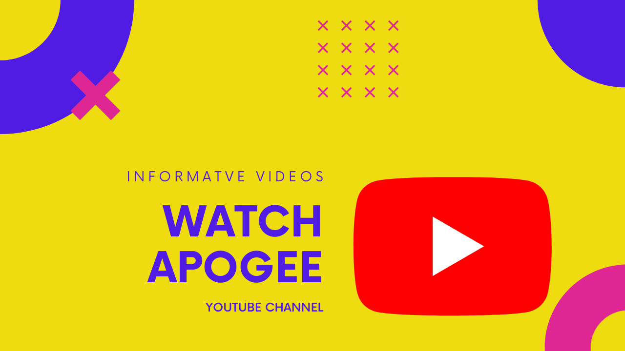 APOGEE YouTube频道