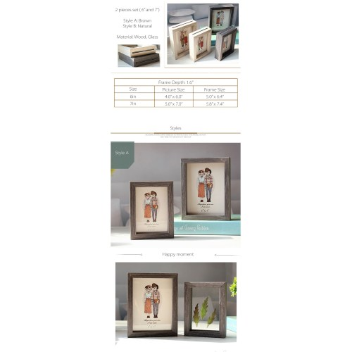 Medium Crop Of Double Sided Picture Frame