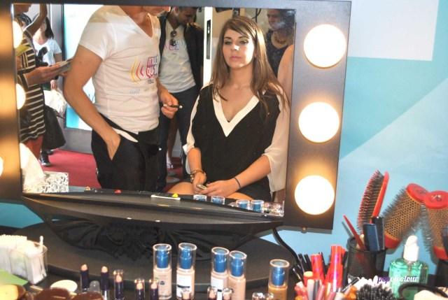 Me at the beauty bar