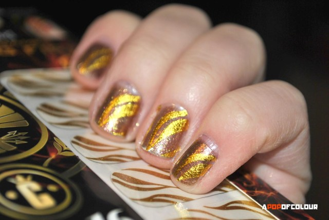 Flamed Out nail stickers