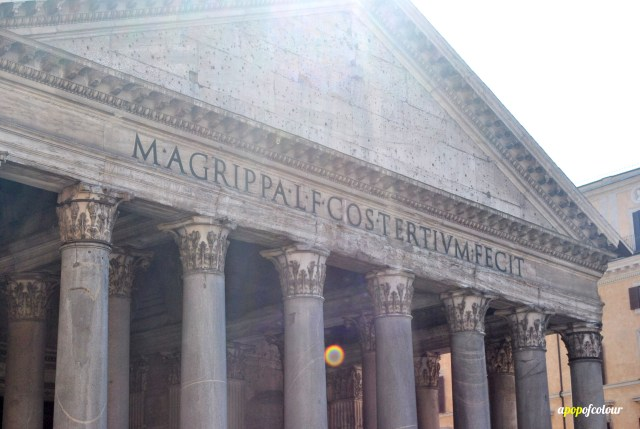 Sign at the Pantheon