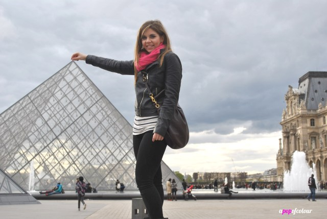 me holding louvre