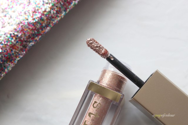 Stila Cosmetics Magnificent Metals Glitter & Glow Liquid Eyeshadow in Karma Kitten wand