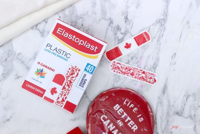 Elastoplast Canada Day bandaids