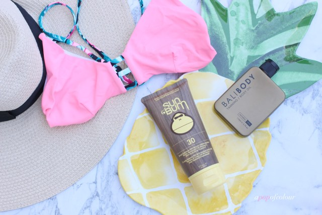 Sun Bum Sunscreen and Bali Body
