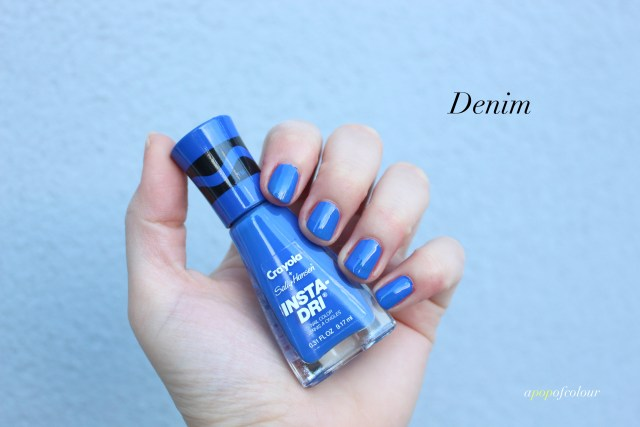 Sally Hansen Insta-Dri x Crayola Denim swatch