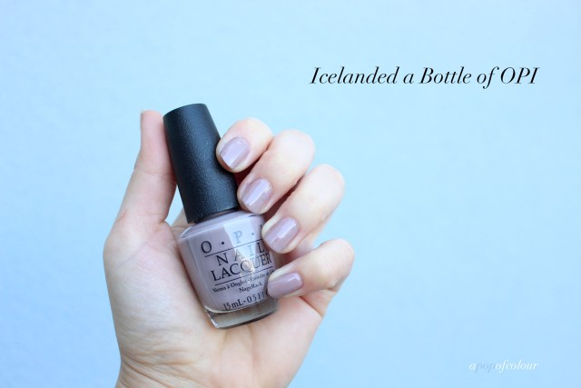 OPI Icelanded a Bottle of OPI swatch