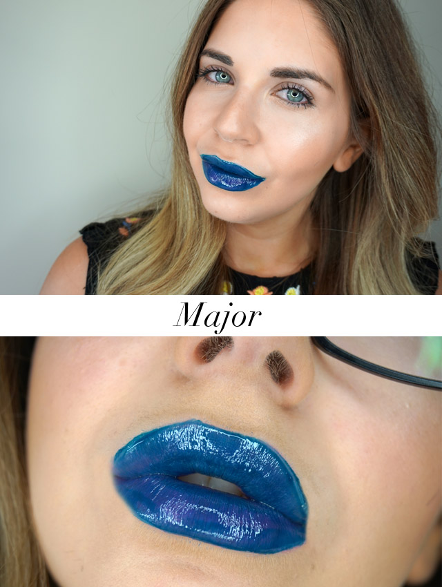 Swatch Maybelline Vivid Hot Lacquers lip gloss in Major