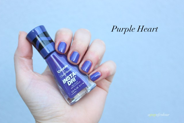 Sally Hansen Insta-Dri x Crayola Purple Heart swatch