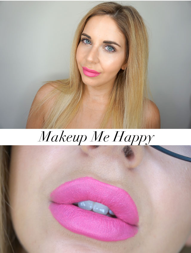 Too Faced Peaches and Cream Moisture Matte Long Wear Lipstick swatch in Makeup Me Happy