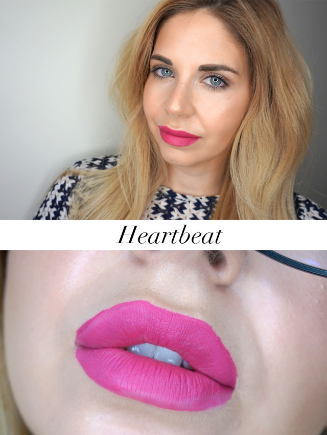 Rimmel London Stay Matte Liquid Lip Colour swatch in Heartbeat