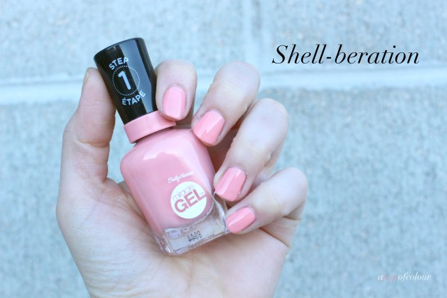 Sally Hansen Miracle Gel Pastel Punk collection, Shell-beration swatch