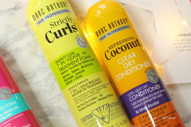 Marc Anthony Haircare Refreshing Coconut Clear Dry Shampoo and Strictly Curls 7-in-1 Leave-in Treatment
