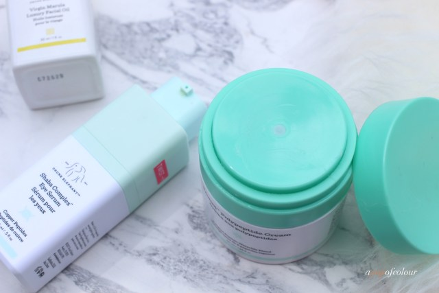 Drunk Elephant Shaba Eye Complex and Protini moisturizer