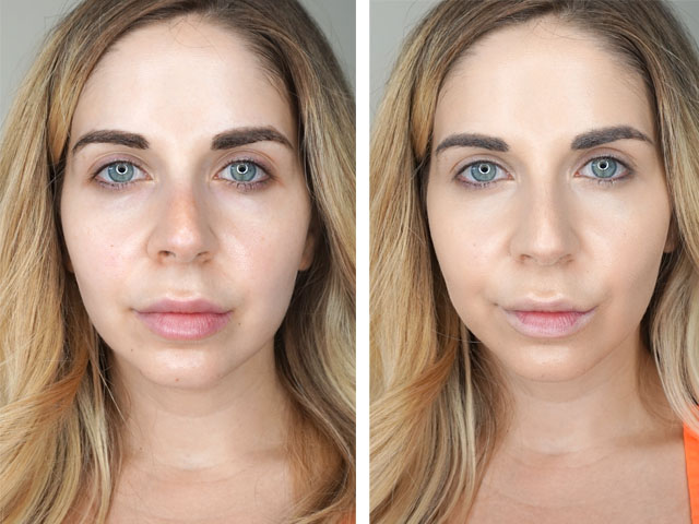 Make Up For Ever Matte Velvet Skin foundation before and after