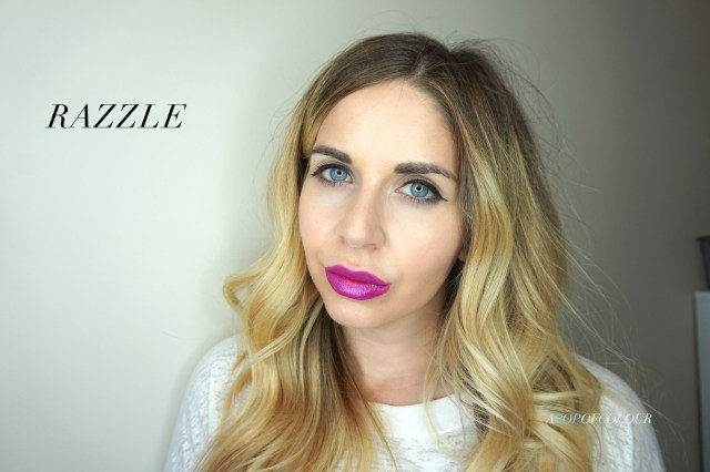 Kat Von D Glimmer Veil lipstick in Razzle