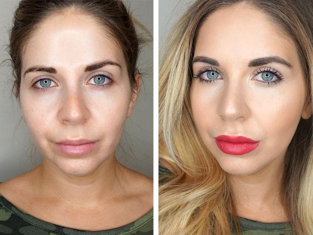 Before and after using Mary Kay Lash Love mascara