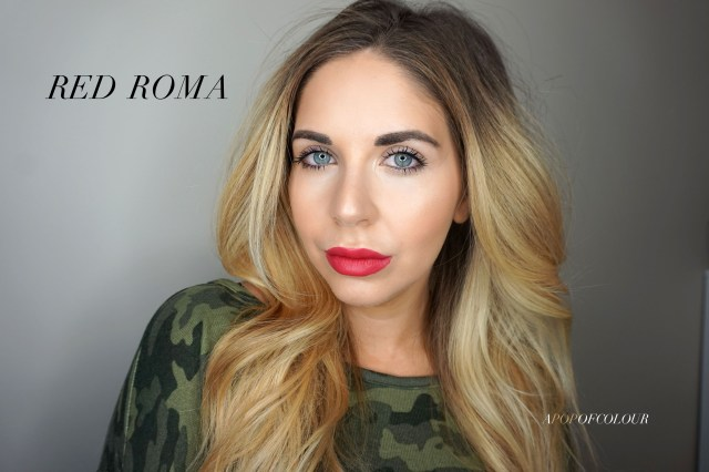 Mary Kay Matte lipstick swatch in Red Roma