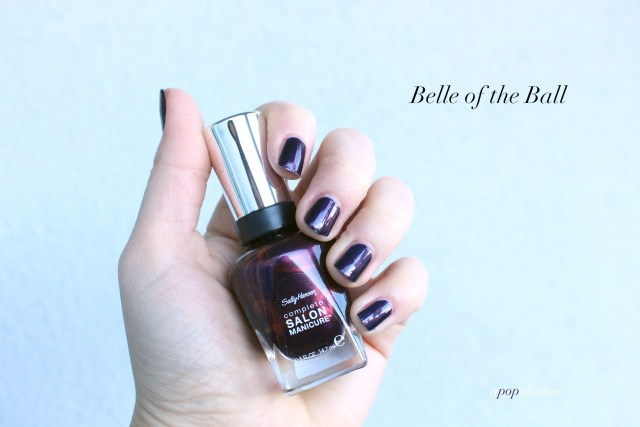 Sally Hansen Red/esign nail polishes in Belle of the Ball