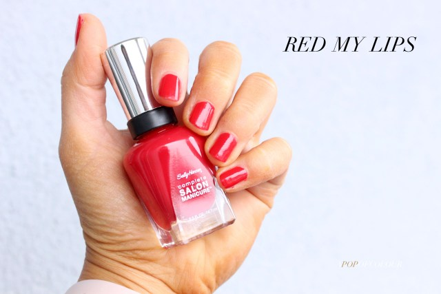 Sally Hansen Red/esign nail polishes swatch in Red My Lips