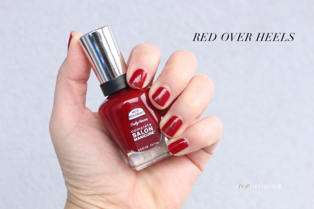 Sally Hansen Red/esign nail polishes swatch Red Over Heels