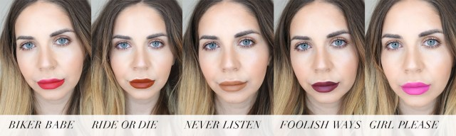 NYX Line & Load All-In-One Lippie swatches