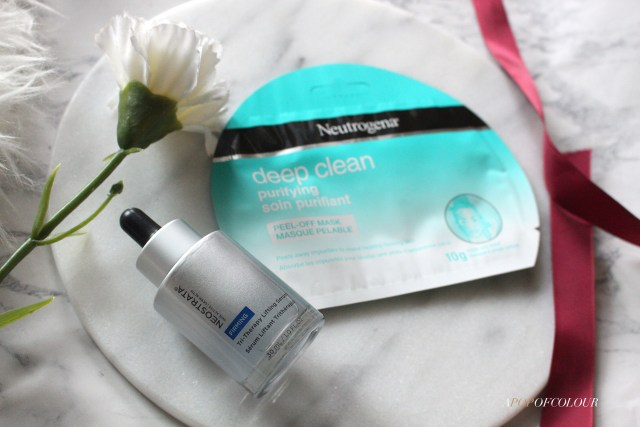Neostrata serum and Neutrogena peel-off mask