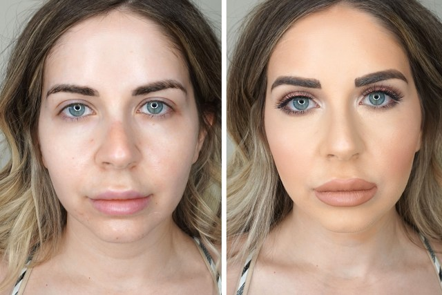 Before and After using CoverGirl TruBlend Matte Made Foundation, Undercover Concealer and Powders