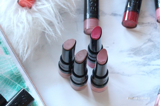 Bourjois Paris Rouge Fabuleux lipsticks
