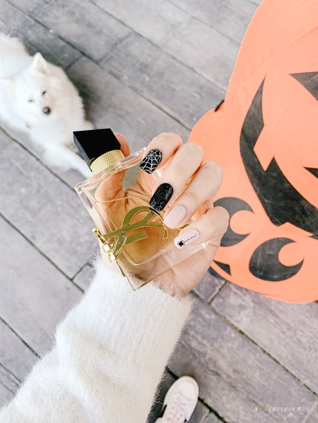 Impress Halloween press on nails applied