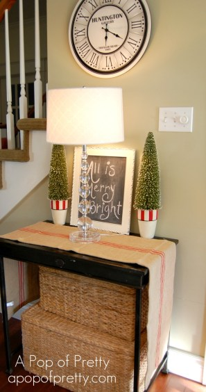 Cottage Christmas Vignette