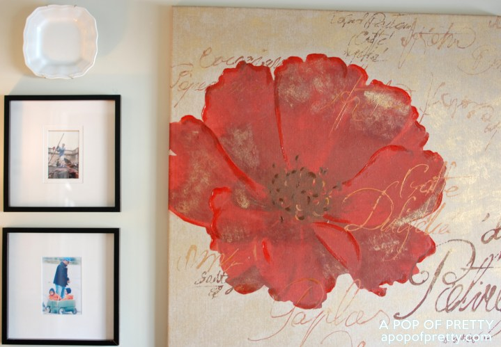 Large canvas gallery wall