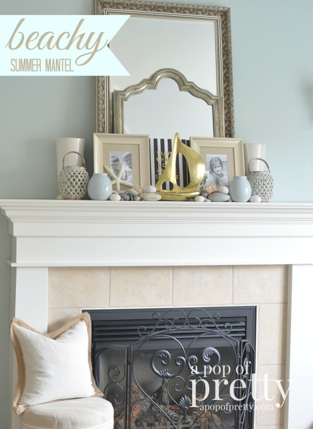 Beach Summer Mantel Decor 5