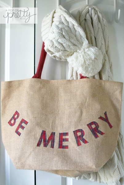 Cottage Christmas Be Merry bag