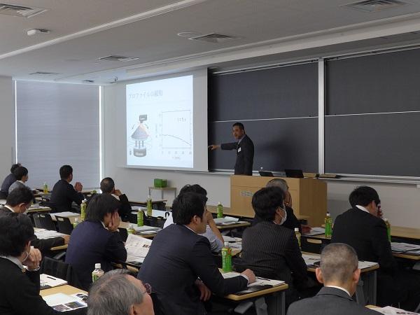 講演の様子 名古屋大学大学院環境学研究科 地球環境科学専攻 准教授 桂木洋光 様