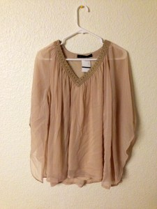 Chiffon Dusty Pink Top