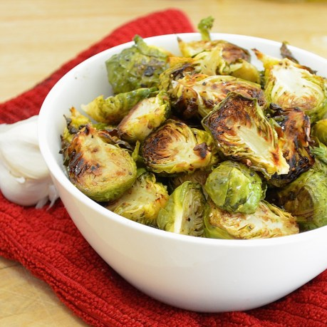 Fabulously delicious balsamic and garlic roasted brussel sprouts! They'll turn anyone into a vegetable lover!