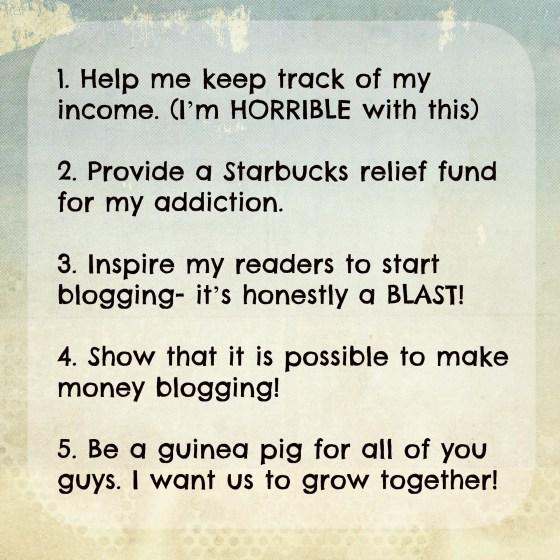 Income Report Goals