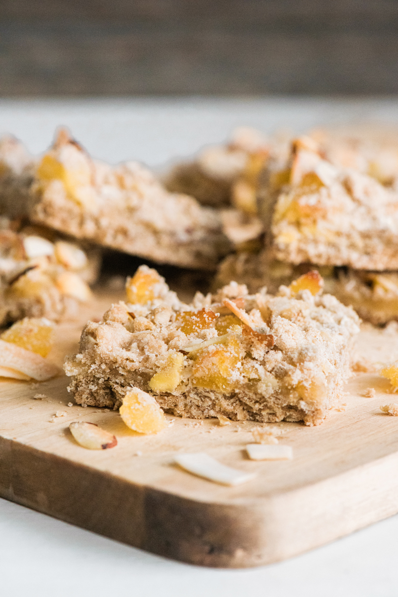 Tropical Breakfast Fruit Bars- made with whole wheat flour and oats!