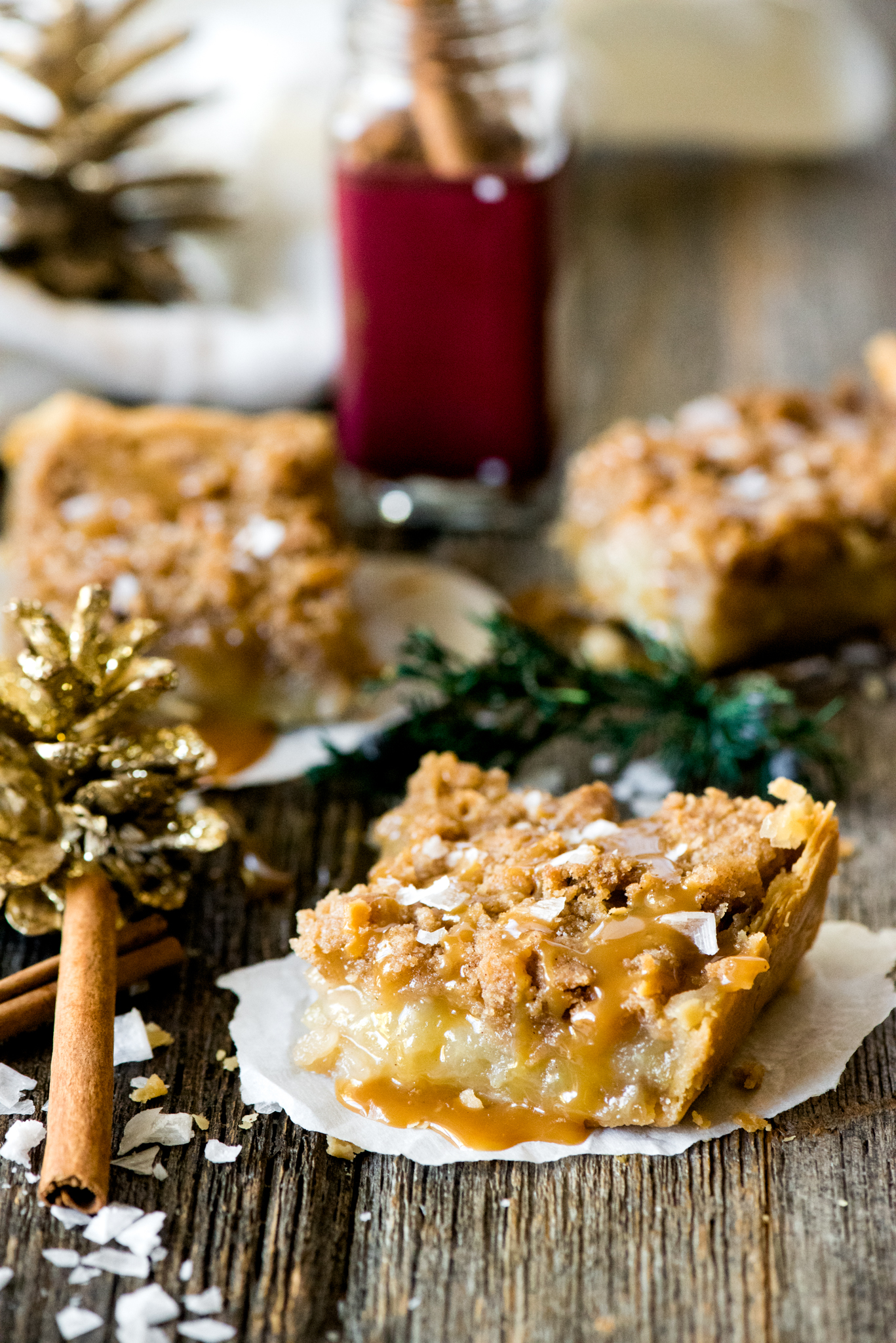 Salted Caramel Apple Pie Slabs
